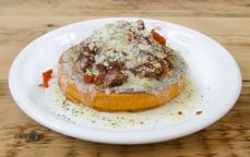メキシカングラタン風トマトパンケーキ